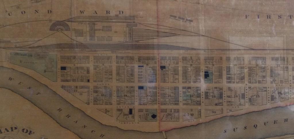 1882 Map of Renovo with railyard