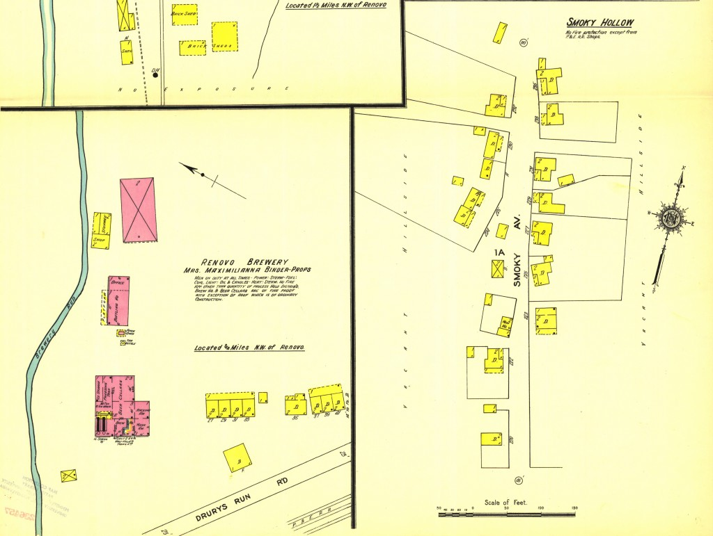 Possibly Stouts Hill and Smoky Hollow, 1911 Sanborn map